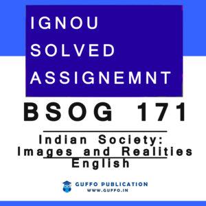BSOG-171 SOLVED ASSIGNMENT 2020