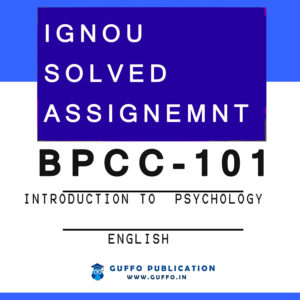 BPCC-101 SOLVED ASSIGNMENT 2020